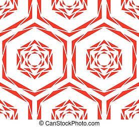 Abstract Red Rose Tile Pattern