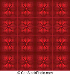 Abstract red seamless atoms black background - creative party dots