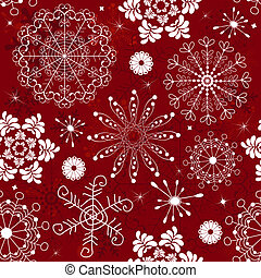 Abstract red seamless pattern