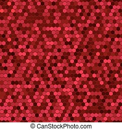 Abstract Red Seamless Vector Cell Pattern.