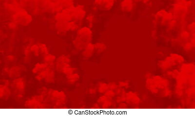 Abstract Red Skies Seamless. Red Clouds of Smoke Looped 3d ...