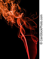 abstract red smoke background