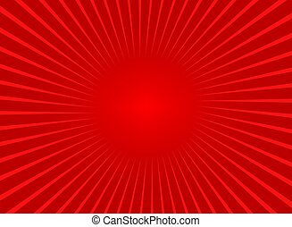Abstract red sun rays background