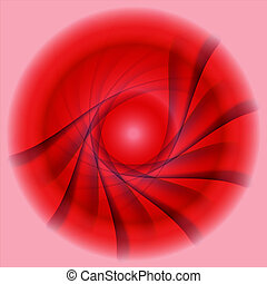 Abstract red swirl circle backgroun