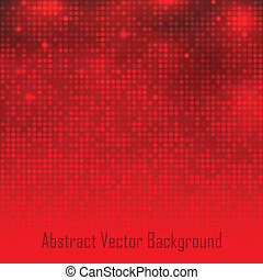 Abstract Red Technology Glow Background. Vector illustration