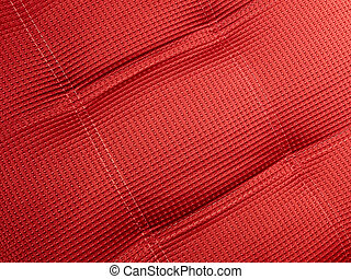 abstract red textile background closeup, industry details