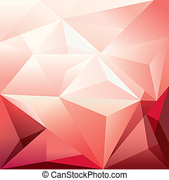 Abstract Red Triangle Polygon Background