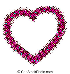 abstract red vector heart