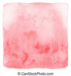 Abstract red watercolor on white background