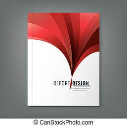 Abstract red wave background for business annual report book cover brochure flyer poster