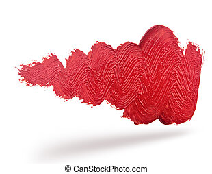Abstract red wave brush stroke
