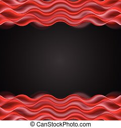 Abstract red wavy dark background