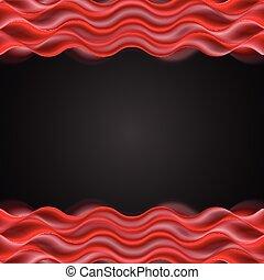 Abstract red wavy dark background