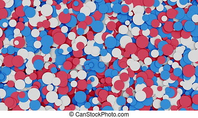 Abstract red white and blue circles - Abstract red, white...