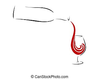 Abstract Red Wine