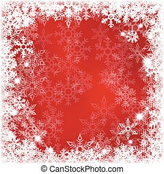 Abstract red with snowflakes