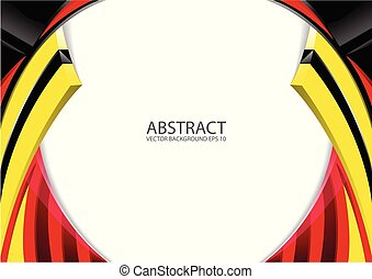 Abstract red yellow black modern background
