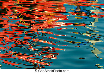abstract reflection on the sea in the port of Vancouver