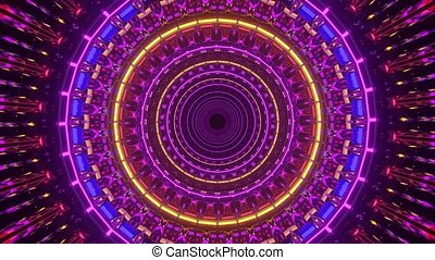 abstract reflections neon dj loop motion design visual 3d rendering loop in 4k uhd 60fps
