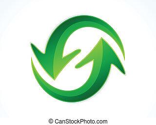 abstract refresh icon vector illust