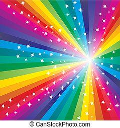 abstract, regenboog, achtergrond
