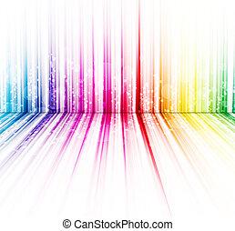 abstract, regenboog kleuren, op, een, witte achtergrond, spectrum