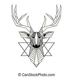 Abstract Reindeer Design Tattoo Vector Image