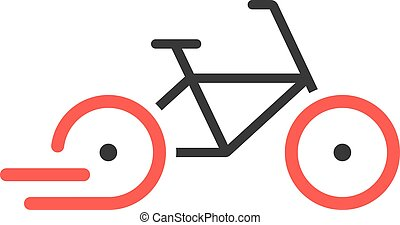 abstract rent a bike brand icon