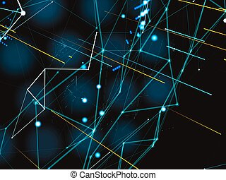 Abstract representation of the digital world