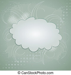 Abstract retro background with cloud