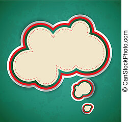 Abstract retro background with speech bubble