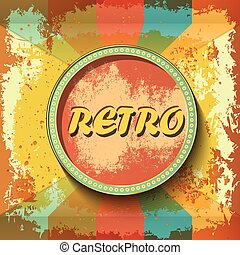 Abstract retro banner on grunge background. Vector illustration