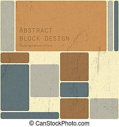 Abstract retro blocks design background, Vector