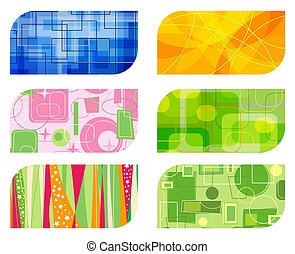 abstract retro business card backgrounds illustration