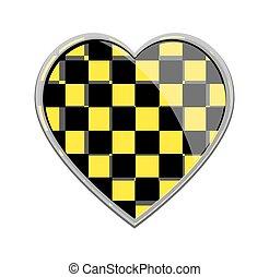Chess Pattern Heart