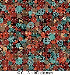 Abstract retro circle seamless pattern