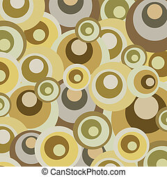 Abstract retro circles design - Spotted retro vintage vector...