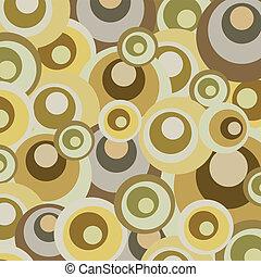 Abstract retro circles design