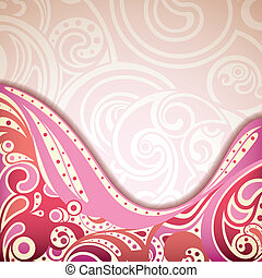 Abstract Retro Curve Background