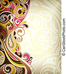 Abstract Retro Curve - Illustration of abstract curve...