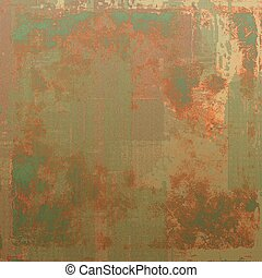 Abstract retro design composition. Stylish grunge background. With different color patterns: yellow (beige); brown; green; red (orange); gray