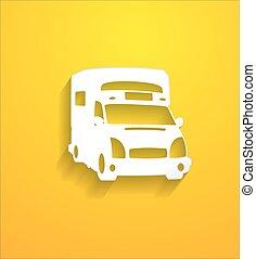 Freight Car Vector Shape