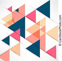 Abstract Retro Geometric Background