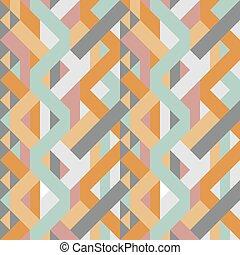 abstract retro geometric pastel art deco style pattern