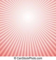 Abstract retro gradient sun rays background design - vector design