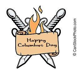 Happy Columbus Day Banner