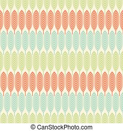 abstract retro leaf design pattern