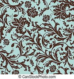 seamless floral pattern - abstract retro seamless floral ...