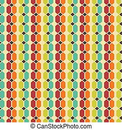 Abstract retro seamless pattern. Vector illustration