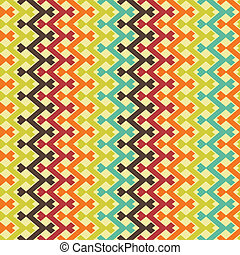 Abstract retro seamless pattern. Vector illustration